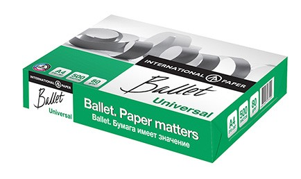 Бумага для офиса Ballet Universal A4 (сорт C+)