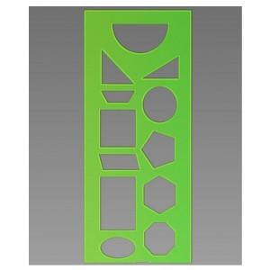 Трафарет геометрических фигур зеленый