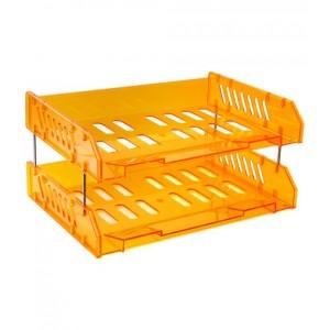 Набор СИТИ из 2-х горизонтальных лотков, оранжевый МАНГО