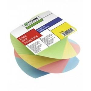 Блок для заметок  6*5*4 цветной Спираль